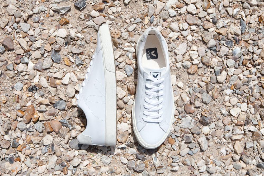 shoes on rocky terrain