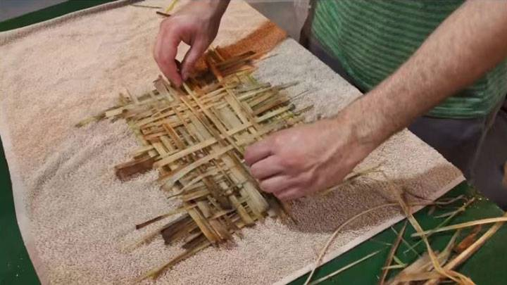 weaving of a book cover