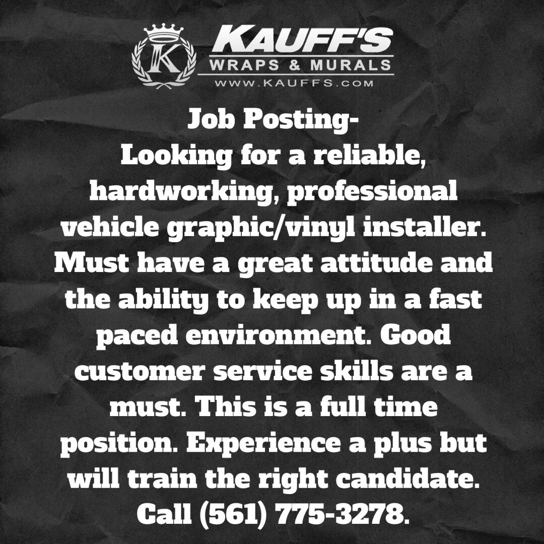 call today or email resumes to shelby kauffs com call today 561 775 3278 or email resumes to shelby kauffs
