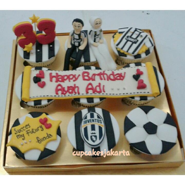 Cupcake Hadiah Ulang Tahun Suami Yang Suka Bola