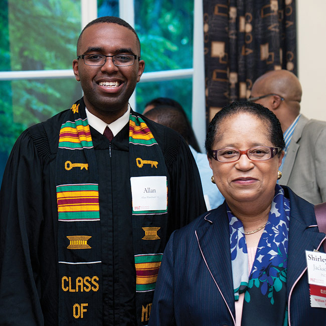 Shirley Ann Jackson '68, PhD '73 and Allan Blanchard '13