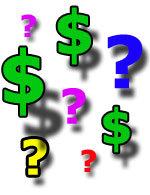 Dollar-question-marks