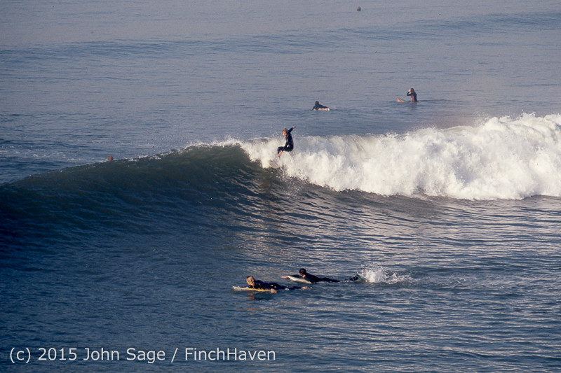 Surfing at Huntington Beach Pier CA early 1970s 04