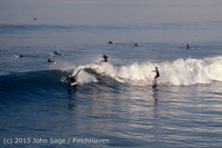 Surfing at Huntington Beach Pier CA early 1970s 08