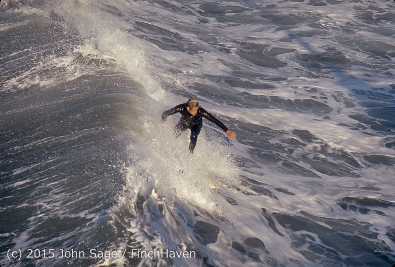 Surfing at Huntington Beach Pier CA early 1970s 68