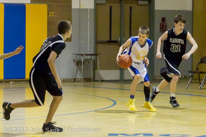 5496 McM Boys Varsity Basketball v Klahowya 121213