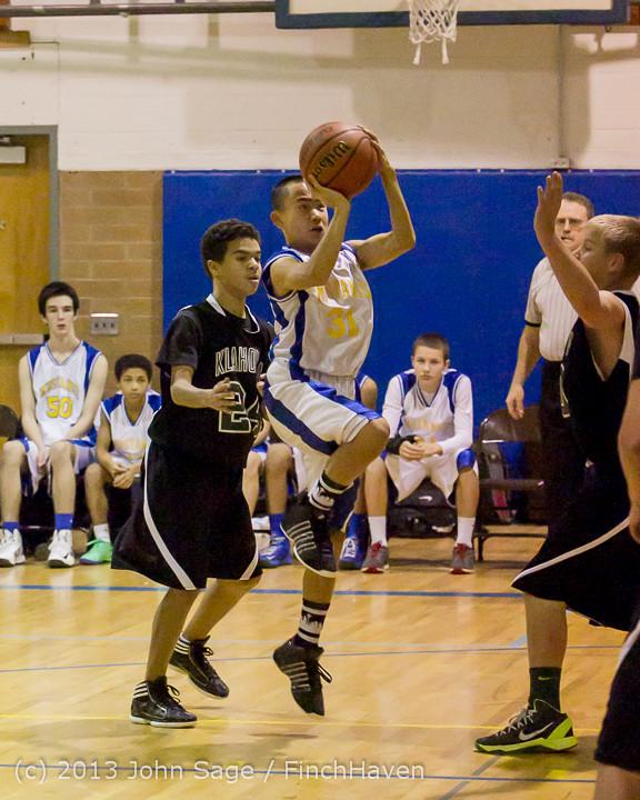 5671 McM Boys Varsity Basketball v Klahowya 121213