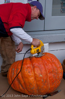 8485 VHS Football guts pumpkins 101913