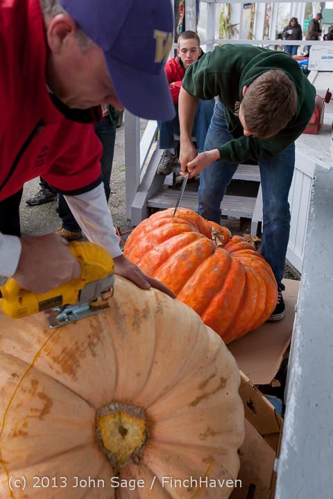 8501 VHS Football guts pumpkins 101913