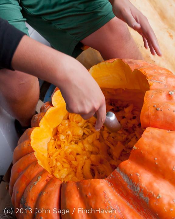 8594 VHS Football guts pumpkins 101913