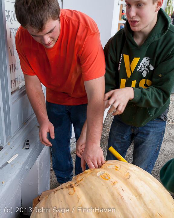 8672 VHS Football guts pumpkins 101913