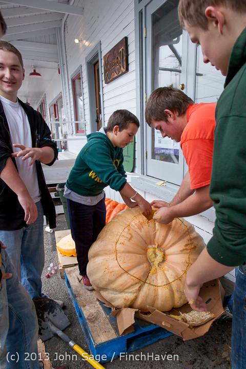 8679 VHS Football guts pumpkins 101913