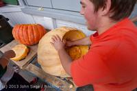 8731 VHS Football guts pumpkins 101913