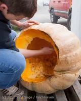 8733 VHS Football guts pumpkins 101913