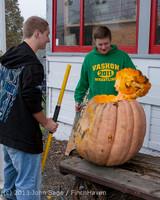 8768 VHS Football guts pumpkins 101913
