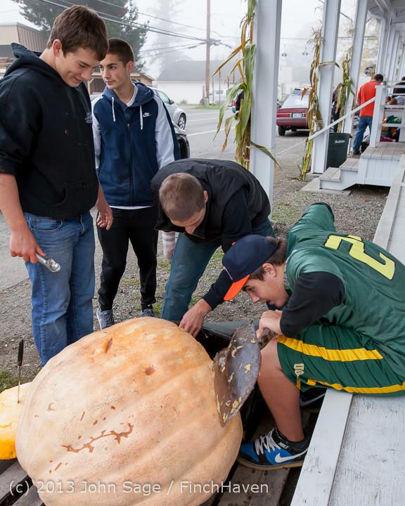 8798 VHS Football guts pumpkins 101913