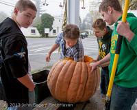 8834 VHS Football guts pumpkins 101913
