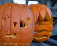 8891 Pumpkin Lighting at the Vashon Roasterie 102713
