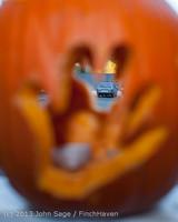 8935 Pumpkin Lighting at the Vashon Roasterie 102713