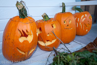 8936 Pumpkin Lighting at the Vashon Roasterie 102713