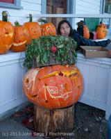8941 Pumpkin Lighting at the Vashon Roasterie 102713
