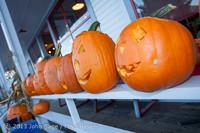 8943 Pumpkin Lighting at the Vashon Roasterie 102713