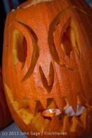 8958 Pumpkin Lighting at the Vashon Roasterie 102713