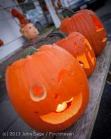 8997 Pumpkin Lighting at the Vashon Roasterie 102713