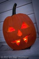 9005 Pumpkin Lighting at the Vashon Roasterie 102713