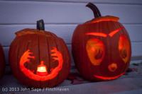 9013 Pumpkin Lighting at the Vashon Roasterie 102713