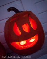 9016 Pumpkin Lighting at the Vashon Roasterie 102713