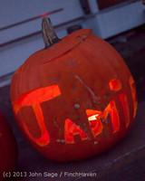 9020 Pumpkin Lighting at the Vashon Roasterie 102713