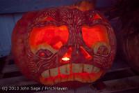 9026 Pumpkin Lighting at the Vashon Roasterie 102713