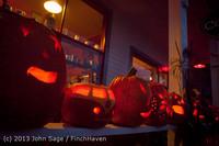 9034 Pumpkin Lighting at the Vashon Roasterie 102713