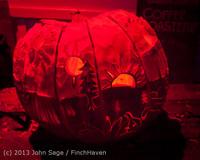 9038 Pumpkin Lighting at the Vashon Roasterie 102713