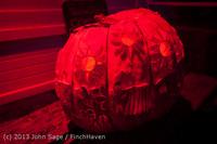 9039 Pumpkin Lighting at the Vashon Roasterie 102713