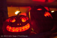 9077 Pumpkin Lighting at the Vashon Roasterie 102713