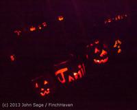 9094 Pumpkin Lighting at the Vashon Roasterie 102713