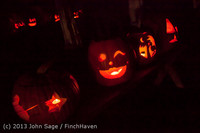 9098 Pumpkin Lighting at the Vashon Roasterie 102713