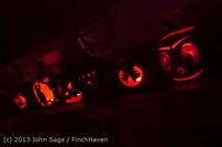 9105 Pumpkin Lighting at the Vashon Roasterie 102713