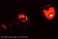 9113 Pumpkin Lighting at the Vashon Roasterie 102713