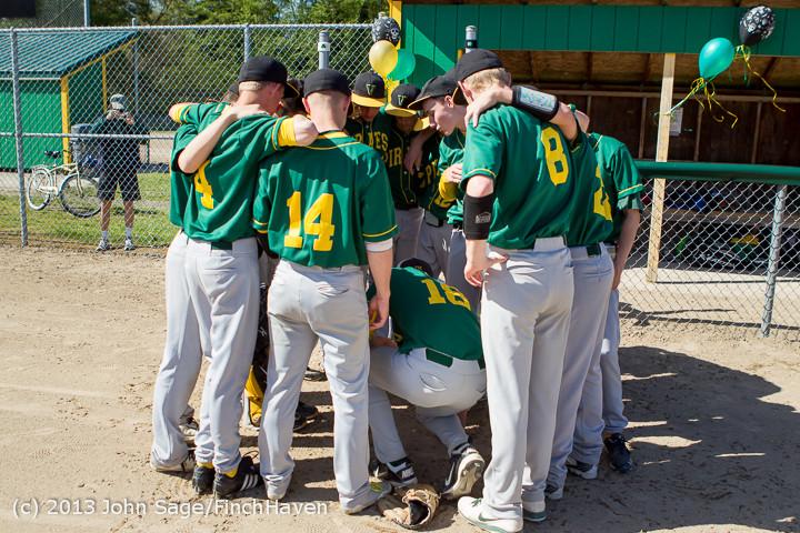 7818 Baseball v Life-Chr Seniors Night 050113