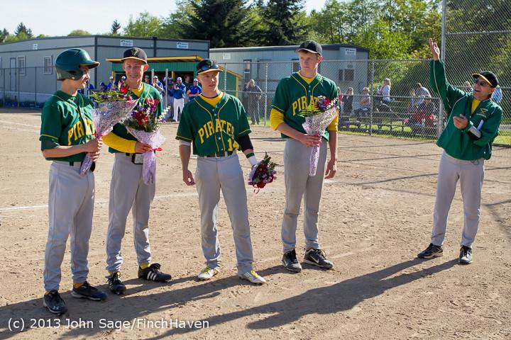 8513 Baseball v Life-Chr Seniors Night 050113