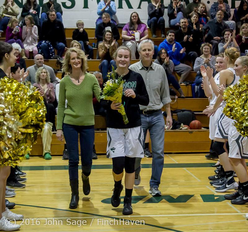 20669 VIHS Girls Basketball Seniors Night 2016 020516