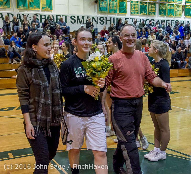 20864 VIHS Girls Basketball Seniors Night 2016 020516