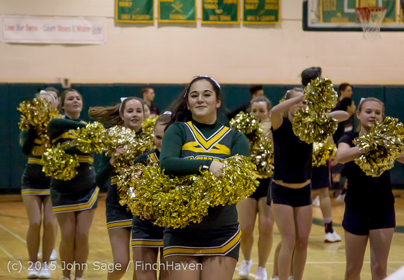 20746 VIHS Cheer-Band-Crowd at BBall v Seattle-Academy 121614