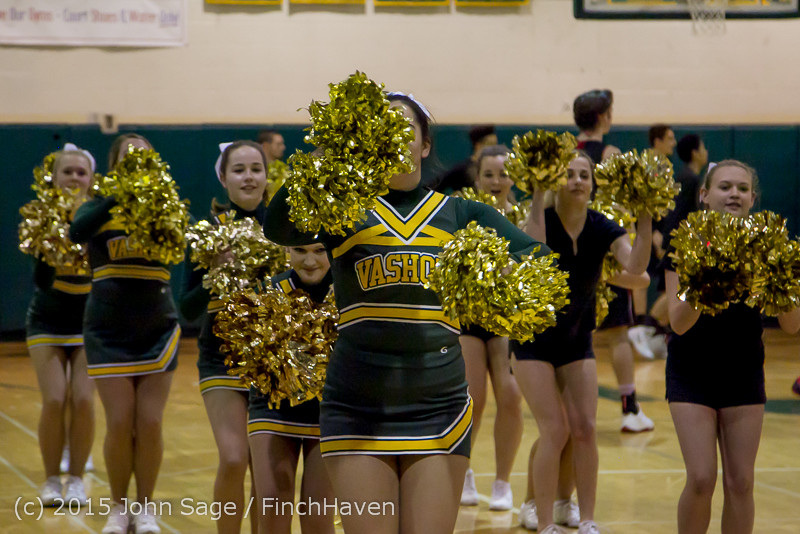 20748 VIHS Cheer-Band-Crowd at BBall v Seattle-Academy 121614