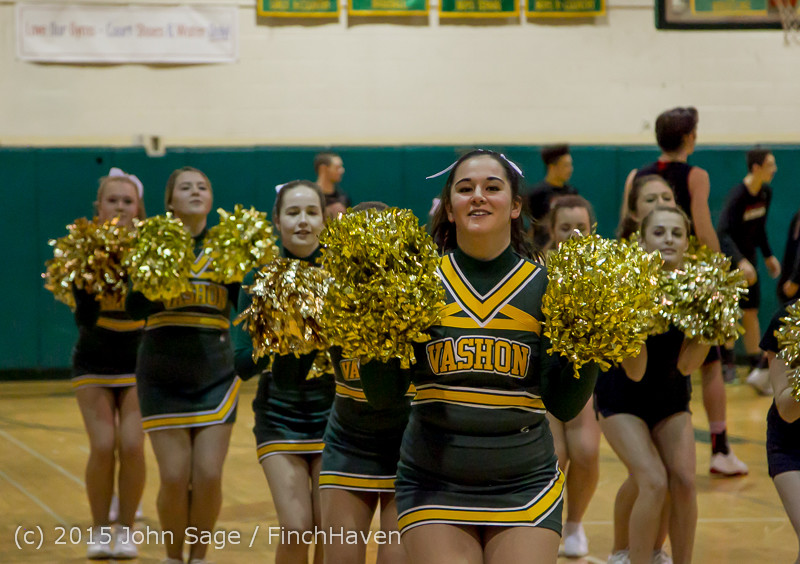 20750 VIHS Cheer-Band-Crowd at BBall v Seattle-Academy 121614