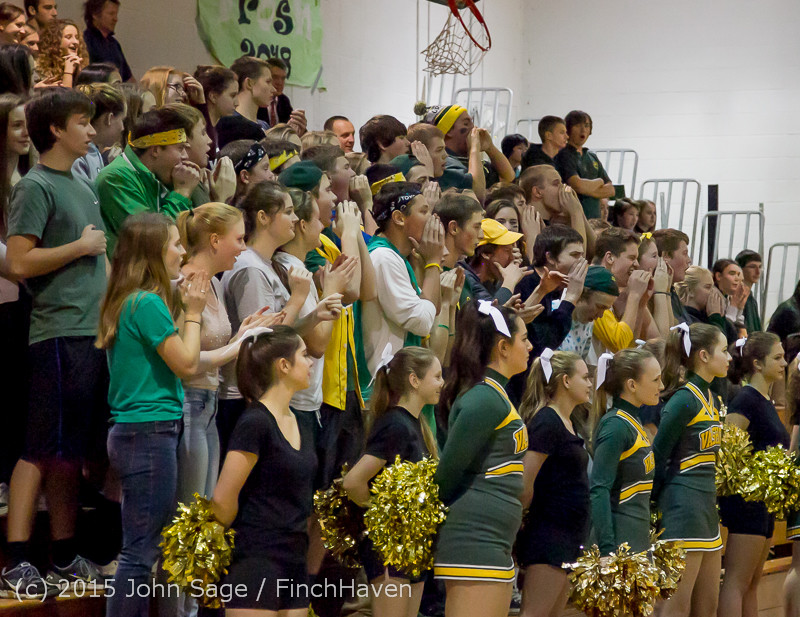 20977 VIHS Cheer-Band-Crowd at BBall v Seattle-Academy 121614