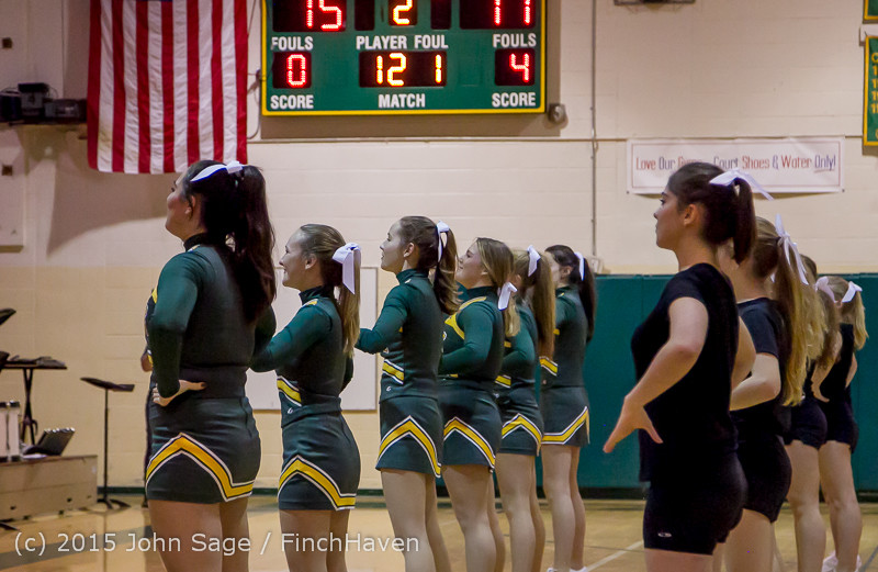 21482 VIHS Cheer-Band-Crowd at BBall v Seattle-Academy 121614